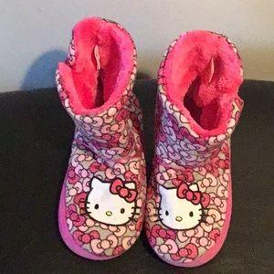 7b8bda077 Hello Kitty Shoes | Girls Slippers Fuzzy Babba Socks Pink | Poshmark